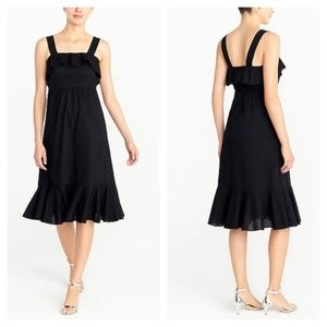 J.Crew Women's Black Cotton Summer Midi Dress